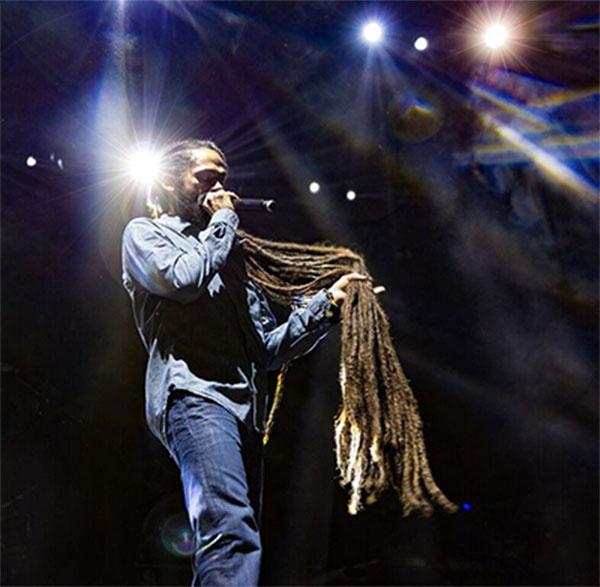 Jr. Gong Marley in concert.
