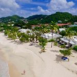 The award-winning, luxurious Spice Island Beach Resort (forefront).