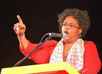 Mia Mottley, Leader of the main opposition Barbados Labour Party (BLP).