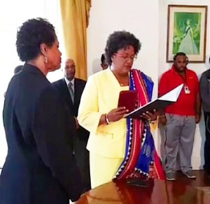Mottley swearing in
