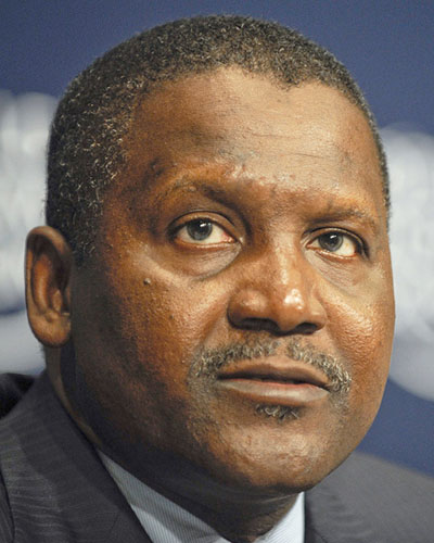 Aliko Dangote, President and Chief Executive Officer, Dangote Group, in Nigeria, seen during the African Fellowship Program with Young Global Leaders announcement at the World Economic Forum on Africa, held in Cape Town, South Africa, from May 4 to 6, in 2011. he is considered Africa's richest person. Photo credit: By World Economic Forum - https://www.flickr.com/photos/worldeconomicforum/5692830332/sizes/l/in/photostream/, CC BY-SA 2.0, https://commons.wikimedia.org/w/index.php?curid=15937459
