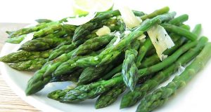 Fresh Herb-Infused, Cucumber-Topped Asparagus Salad