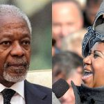 Kofi Annan and Aretha Franklin. Franklin's photo by Cecilio Ricardo, U.S. Air Force - http://www.defenseimagery.mil; exact source for image 090120-F-3961R-860, Public Domain, https://commons.wikimedia.org/w/index.php?curid=7467126