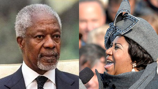 Kofi Annan And Aretha Franklin: Two Legends, Two Legacies, Two Different Messages