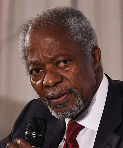 Annan during the Munich Security Conference in 2018. Photo by Hecker/MSC -- https://www.securityconference.de/mediathek/munich-security-conference-2018/image/kofi-annan-7/filter/image/, CC BY 3.0 de, https://commons.wikimedia.org/w/index.php?curid=69438926