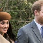 Prince Harry and Meghan Markle going to church at Sandringham, on Christmas Day 2017. Photo credit: Mark Jones -- Cropped from Flickr version: https://www.flickr.com/photos/rambomuscles/27537241539, CC BY 2.0, https://commons.wikimedia.org/w/index.php?curid=65635766