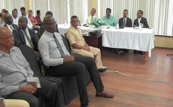 Delegates at Guyana's Customs Anti-Narcotics Unit's five-day conference.