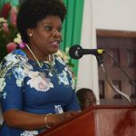 Permanent Secretary in the Ministry Of Tourism, Jennifer Griffith, addresses the Jamaica Tourist Board (JTB) Tourism Awareness Week 2018 Thanksgiving Service, held at Calvary Baptist Church in Montego Bay, St. James, last Sunday. Photo credit: JIS.