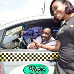 Minister of Transport and Mining, Robert Montague (left, in cab) and Chief Executive Officer and Founder, 876 On The Go, Olivia Lindsay. Photo credit: Donald De La Haye.