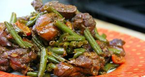 Caribbean Ginger Stewed Chicken With String Beans
