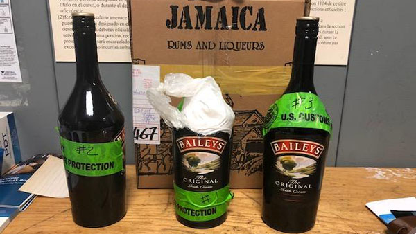 US Customs Officers Nab Jamaican Passenger With Cocaine Hidden In Bottles