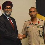 Canada's Minister Of National Defence Speaks With Jamaica's Chief Of Defence Staff