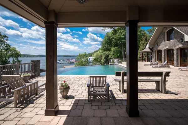 Derek Jetter Mansion -- Back Porch-Pool