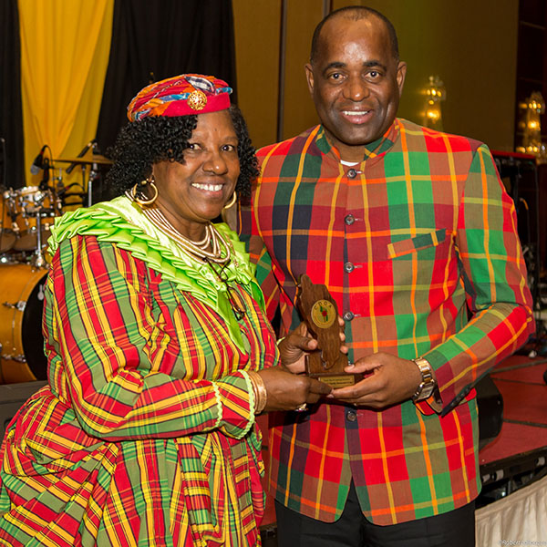 Dominica Prime Minister, Roosevelt Skerrit and his country's Trade and Investment Commissioner to Canada, Frances Delsol. Photo by Robert Larocque.
