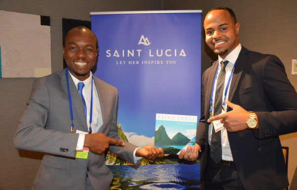 CTO Chair, Dominic Fedee (left) seen with Andrew Ricketts, a representative from St. Lucia's public relations agency in Toronto, Total Public Relations.