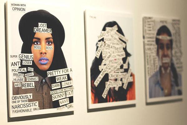 Zahra Agjee and image by Riya Jama, Portrait Labels (2016).