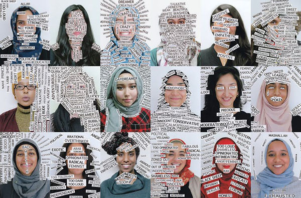 Zahra Agjee, Portrait Labels (composite) (2011-16).