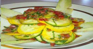 Tender Minty Garden Squash Salad