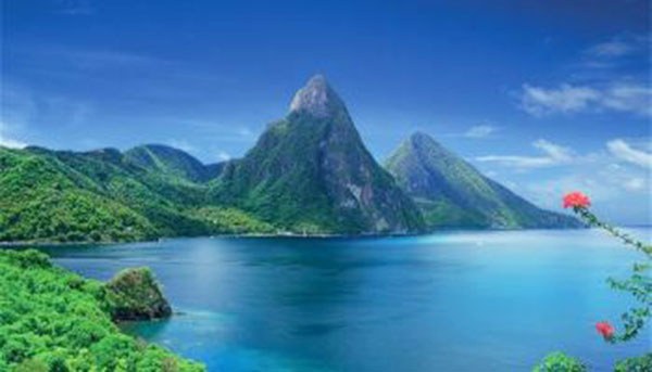 St. Lucia's Piton Mountains, a UNESCO World Heritage Site.