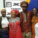 Marcia Griffiths (third from left) meets with some of her fans. Photo Credit: The Jamaica Music Conference.