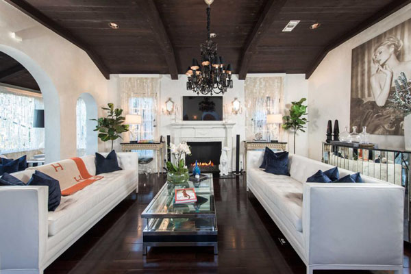 Paris Hilton's Hollywood Hills Home -- living room