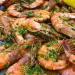 scotch-bonnet-pesto-shrimp-- feature image