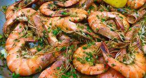Green Scotch Bonnet Pesto Shrimp