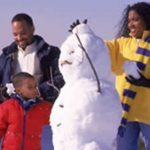 Chef Selwyn -- Black family and snowman