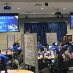 "Students at the Royal Bank of Canada-Lifelong Leadership Institute's ""hackathon"" at RBC Waterpark Place Auditorium on Queens Quay West in Toronto, Canada."