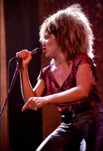 Tina Turner, who turned 79 in November 2018, at a concert in Drammenshallen, Norway in 1985. Photo credit: By Helge Øverås - Own work, CC BY 2.5, https://commons.wikimedia.org/w/index.php?curid=1878336.