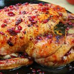 Caribbean Festive Sorrel Pomegranate Roasted Chicken