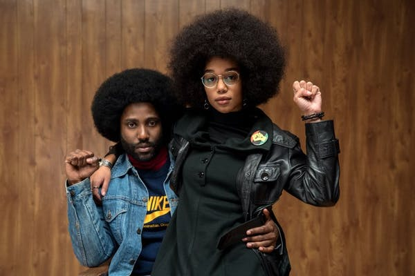 """BlacKkKlansman"" does more than chase laughs. Photo credit: Universal Pictures."