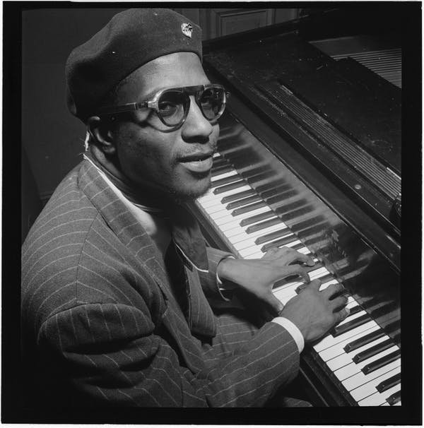Portrait of Thelonious Monk, Minton's Playhouse, New York, N.Y., ca. Sept. 1947. William P. Gottlieb Collection (Library of Congress).