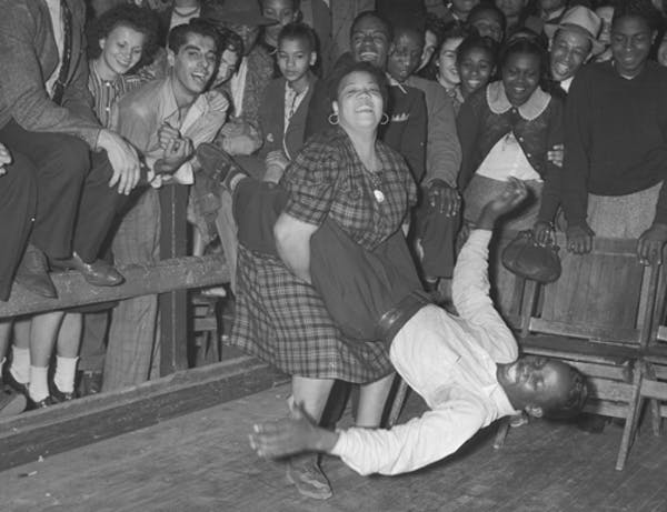 During the Swing Era, the Lindy Hop was a popular dance. Photo credit: UCLA.