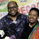 Jamaica's Minister of Culture, Gender, Entertainment and Sport, Olivia Grange (right) seen recently sharing a light moment with the Minister of Tourism, Edmund Bartlett at the launch of Reggae Month 2019, which is being organised by both ministries.