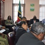 St. Kitts-Nevis Prime Minister, Dr. Timothy Harris (at head of table) and hisl Cabinet met with the High Command of the principal agencies responsible for national security and border safety on Tuesday, February 12 and again yesterday.