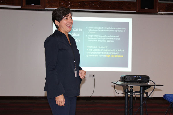 Information technology consultant, Camille Pagee, says there are also low-cost solutions available to countries in the Caribbean to gather data. Photo credit: Desmond Brown/IPS.