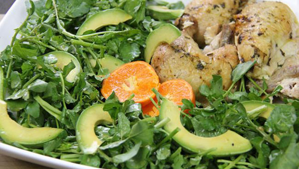 Avocado, Watercress Salad With A Clementine Vinaigrette