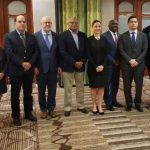 Canadian High Commissioner to Barbados, Marie Legault (third from left), and CARICOM Secretary-General and Chief Executive Officer, Ambassador Irwin LaRocque (extreme right) pictured with Caribbean foreign ministers and Venezuela Opposition representatives in Barbados. Photo credit: CARICOM.