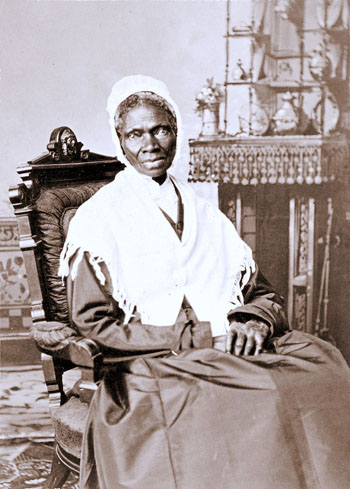 Sojourner Truth (1797-1883) African American and lifelong activist for abolition of slavery and civil rights for freed slaves and women, ca.1864. Photo credit: Randall Studio - National Portrait Gallery, Smithsonian Institution, http://npg.si.edu/object/npg_NPG.78.207, Public Domain, https://commons.wikimedia.org/w/index.php?curid=8866087.