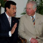 Lionel Richie, the New Global Ambassador for the Prince's Trust International, in discussion with The Prince of Wales at the reception at the Coral Reef Club Hotel, in Barbados, last week Tuesday.