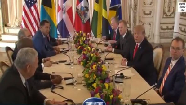 "Jamaica Prime Minister Describes Meeting With US President As ""Promising"""