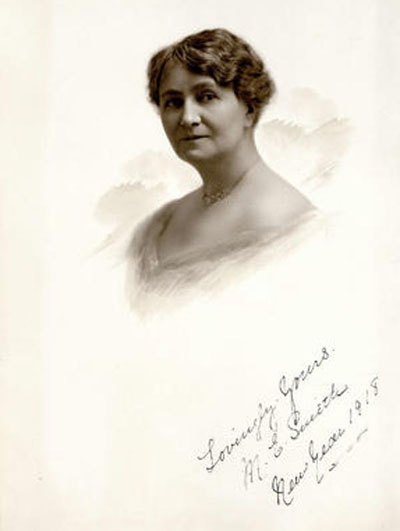 Mary Ellen Smith is seen this 1918 portrait. Photo credit: City of Vancouver archives.