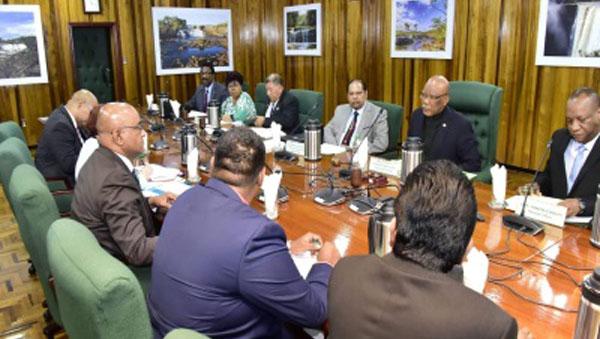 Guyana President And Opposition Leader Begin Crucial Talks