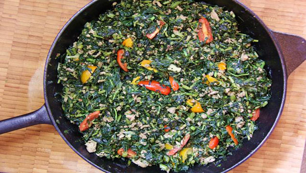 Jamaican Callaloo With Turkey