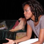 Multi-talented artist, Alyson Renaldo, in a scene from her one-woman play, Virgin.