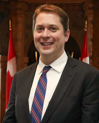 Federal Conservative Leader, Andrew Scheer, in 2018. Photo credit: Andre Forget.