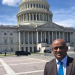 Guyana's Opposition Leader, Bharrat Jagdeo, seen, recently, in Washington, DC, in front of the domed United States Capitol Building, the home of the US Congress and the seat of the legislative branch of the federal government. Photo courtesy of the PPP.