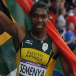 Caster Semenya at the 2012 Summer Olympics. Photo credit: Tab59 from Düsseldorf, Allemagne - La sud africaine: Caster Semenya, médaille d'argent aux 800m, CC BY-SA 2.0.