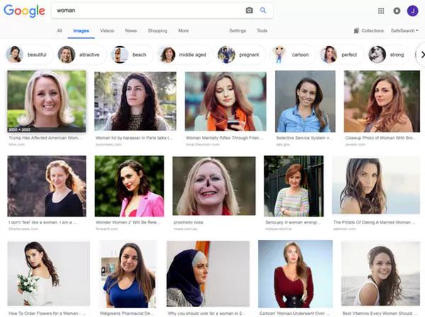 Google Discriminates -- First image new